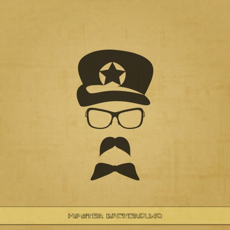new textured background with hipster accessories can use like trendy symbol Vector