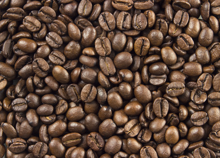 natural roasted coffee beans background