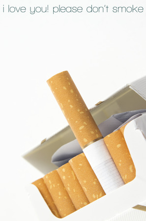 educative: open cigarettes pack with educative message