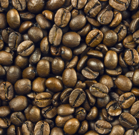natural roasted coffee beans background photo
