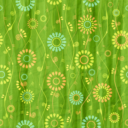textured paper: textured paper with seamless floral pattern Illustration