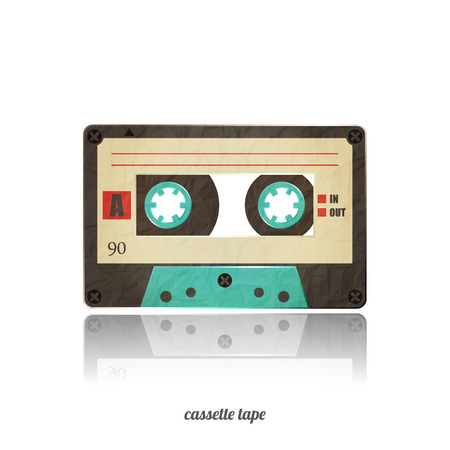 vintage cassette tape icon isolated on white background Vector