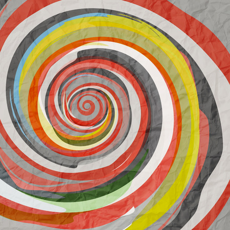 abstract with colorful spiral on paper texture Vector