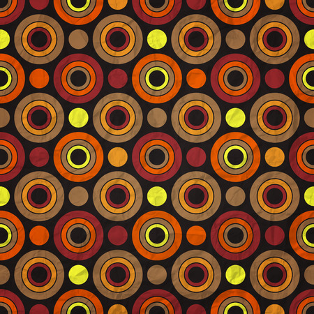retro pattern with circles and dots on paper texture