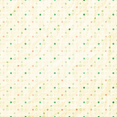 seamless pattern with colorful dots on textured paper Illustration