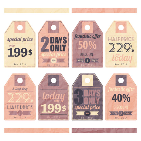 new collection of paper price tags Vector