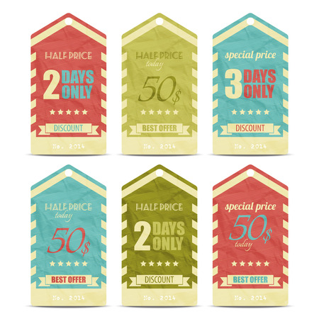 new collection of trendy paper price tags