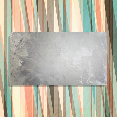 autograph: abstract frame and colorful wallpaper with personal autograph