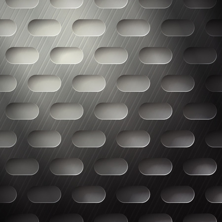 abstract metallic grate with rounded holes Vector