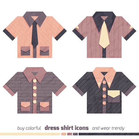 dress shirt: new collection of dress shirt icons isolated on white background
