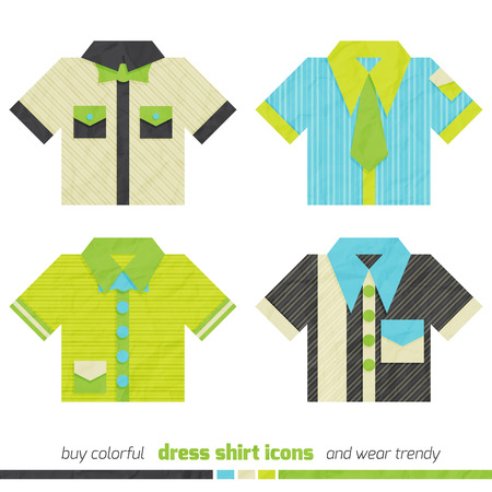 dress shirt: new collection of colorful dress shirt icons