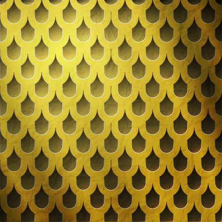 aperture grid: shiny golden grate with tiled holes  luxury background