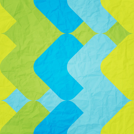paperhanging: seamless pattern with colorful ornament over textured paper surface