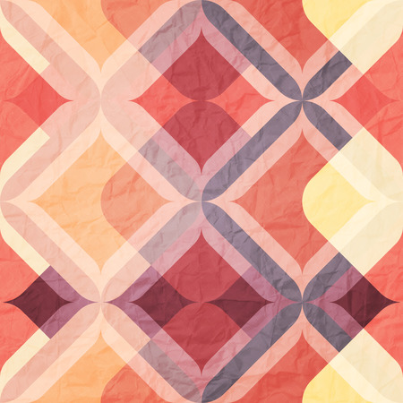 paperhanging: seamless pattern with colorful ornament on paper texture