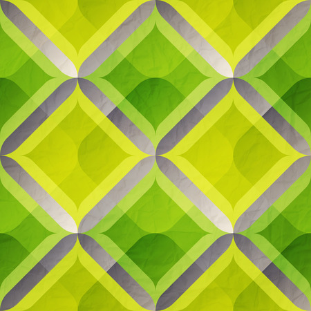 paperhanging: seamless pattern with green classic ornament on paper texture