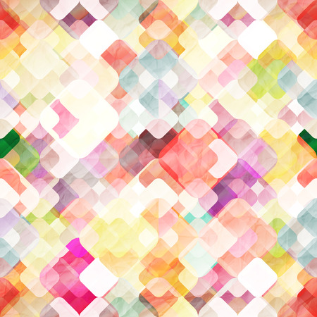 abstract seamless pattern with colorful geometric shapes. paper texture