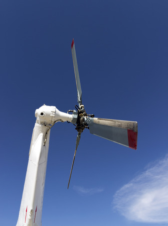 helicopter steering mechanism detail. civic copter rudder propeller photo