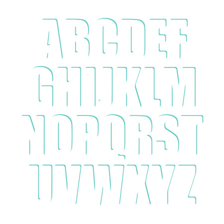 majuscule: set of white alphabet letters. decorative type font