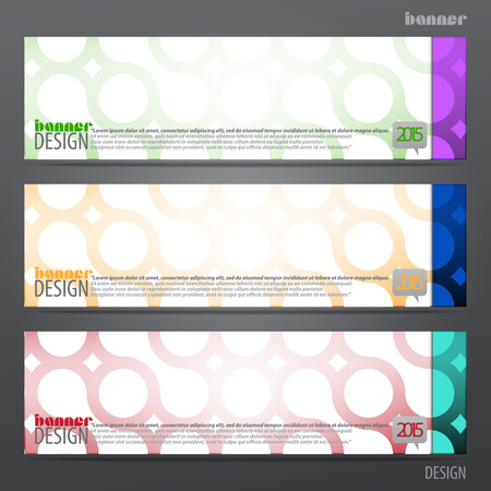 new set of horizontal business banners with abstract circles motive. vector web design Vector