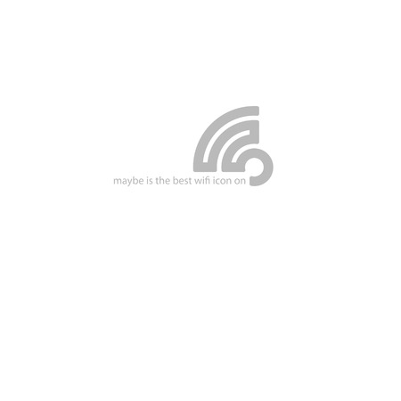 wireless hot spot: new stylish wireless symbol.