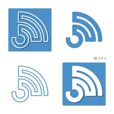 set of wireless icons.