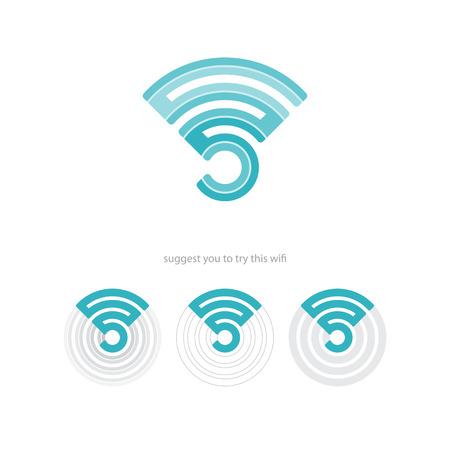 WiFi 연결 아이콘과 무선 전파를 설정합니다. 벡터 웹 디자인
