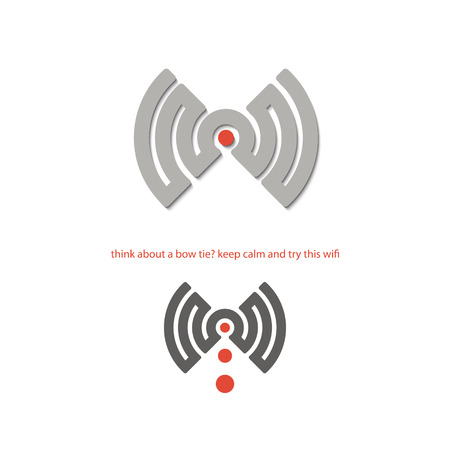 new isolated wifi connection icon. vector logo design Illustration