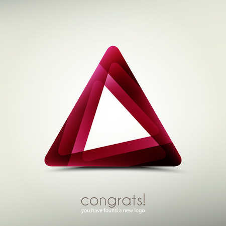 3d image: abstract logo template icon. vector graphic design. triangle symbol