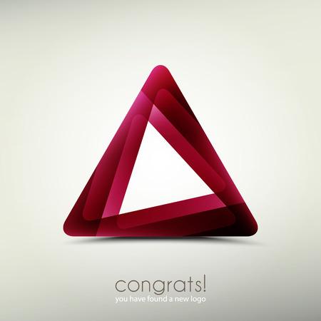 abstracte logo template icoon. vector grafisch ontwerp. driehoeksymbool
