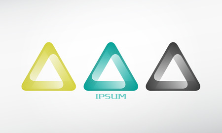abstract logo template icon. graphic design elements. triangle sign Vector