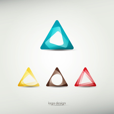 convergence: abstract logo template icons. graphic design elements. triangle symbol