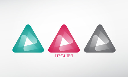 abstract logo template icon. graphic design elements. triangle symbol