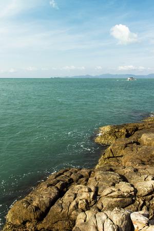 koh samui: view from the rocks of tropical coastline. Koh Samui Thailand