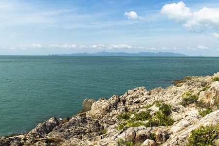 'koh samui': view from the rocks of the beautiful coastline. Koh Samui Thailand Stock Photo