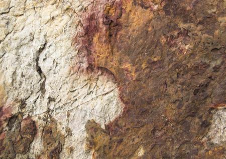 ferruginous: natural, old stone texture. abstract ferruginous wallpaper Stock Photo