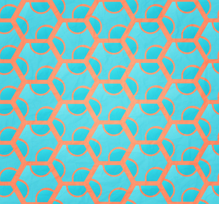 abstract seamless pattern with cyan combs over pink paper.  Vector