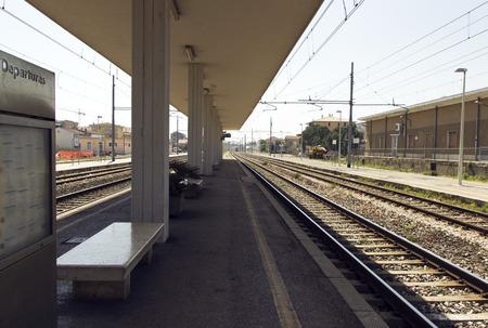 railway transportation: Italian train station. fast railway transportation concept Stock Photo
