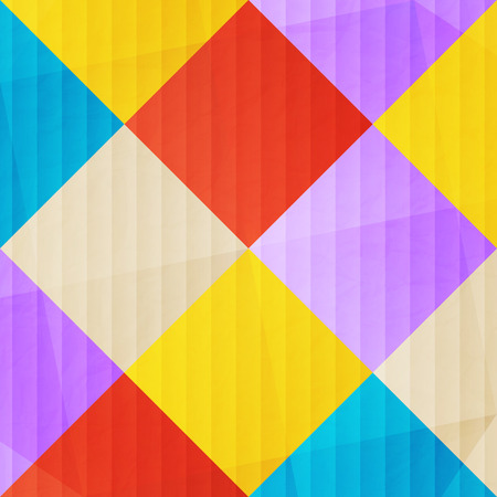 textura papel: abstract, colorful mosaic over paper texture. vector decorative background Vectores
