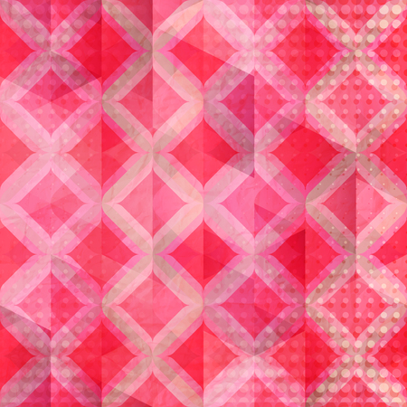 paperhanging: grunge wallpaper with abstract, geometric ornament over paper texture. vector fashion background Illustration