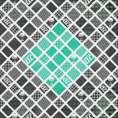 textura papel: sin patr�n, con abstracto, ornamento geom�trico sobre la textura del papel. dise�o de moda del vector