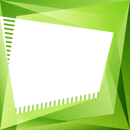 textura papel: abstract background with green paper texture and white frame. vector creative design