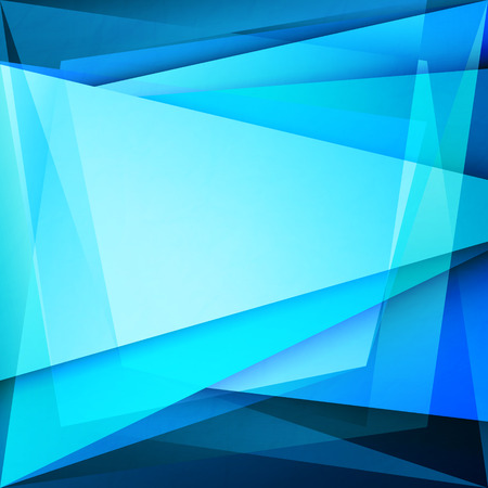 abstract background with blue frame over transparent glass surface. vector banner design Illustration
