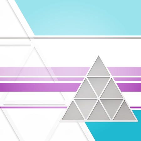 delta: abstract background with triangles, stripes and gray delta frame. vector creative design Illustration