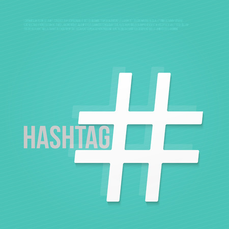 hash: text space and hash tag sign. social media promotion symbol. vector graphic design Illustration