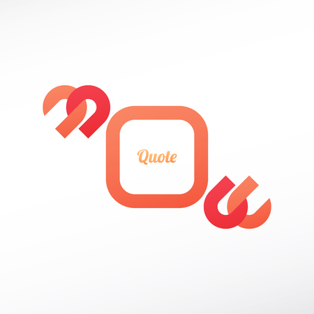 quotation marks: quotation marks symbol and speech bubble isolated on white background. vector text box design