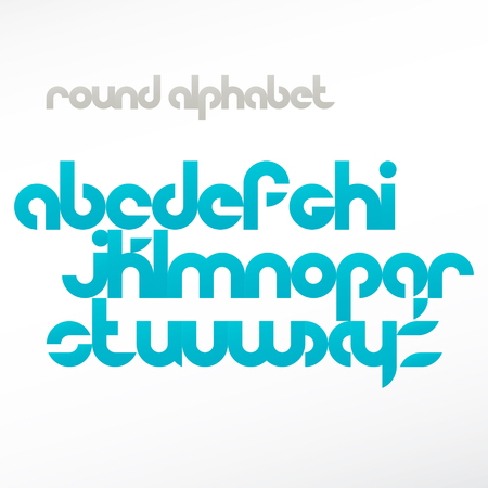 emphasized: new set of contemporary alphabet letters isolated on white background. vector font type design