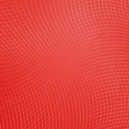 chequered drapery: abstract, red net pattern over paper texture. vector background design