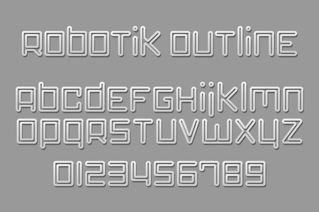 numerical code: set of stylish, 3d alphabet letters and numbers isolated on gray background. vector font type labels design