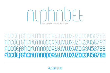numerical code: set of stylized alphabet letters and numbers isolated on white background.