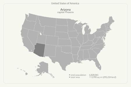 Arizona Map Vector Cliparts Stock Vector And Royalty Free - United states map arizona
